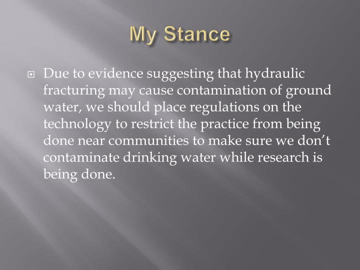 My Stance