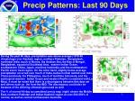 precip patterns last 90 days