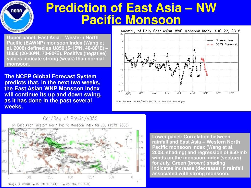 Prediction of East Asia – NW Pacific Monsoon