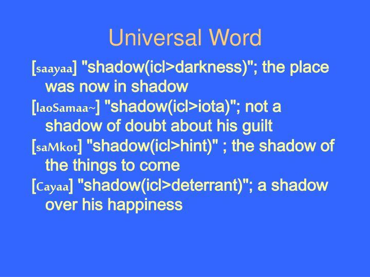 Universal Word
