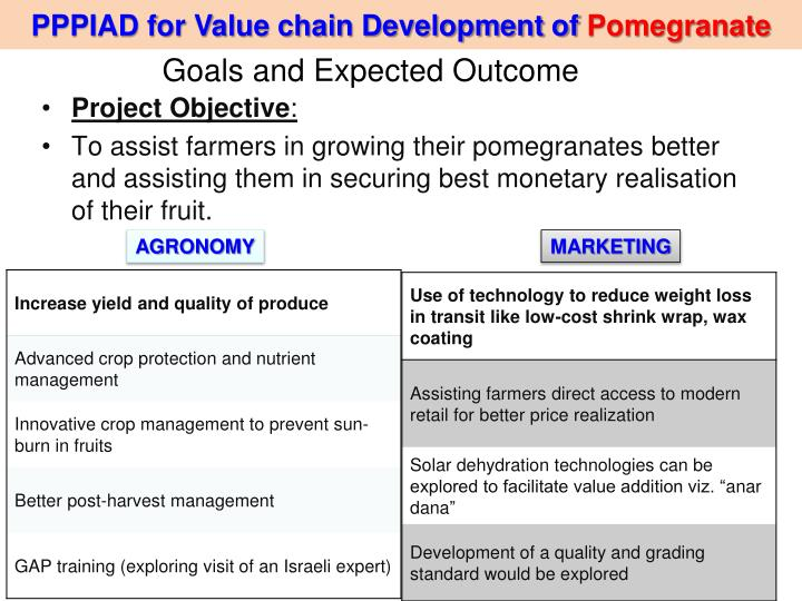 PPPIAD for Value chain Development of