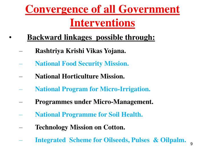 Convergence of all Government Interventions