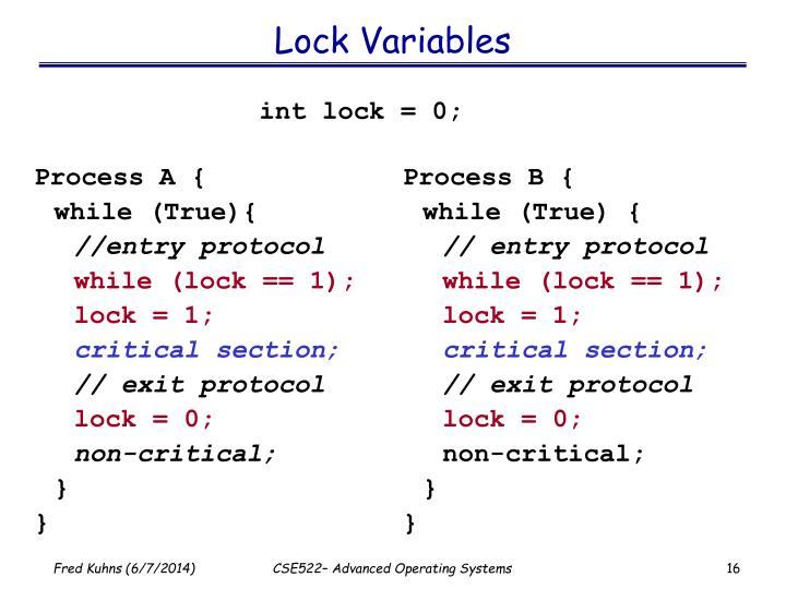 Lock Variables