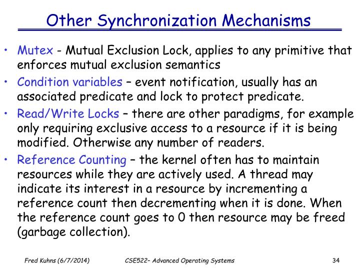 Other Synchronization Mechanisms