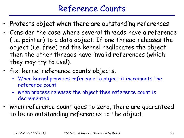 Reference Counts