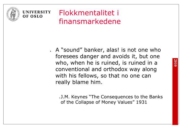 Flokkmentalitet i finansmarkedene