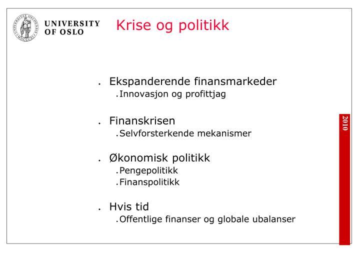 Krise og politikk