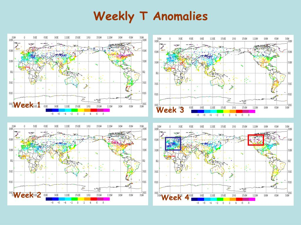 Weekly T Anomalies