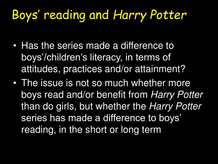 Boys' reading and