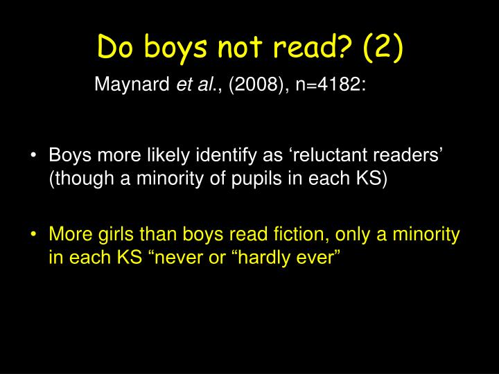 Do boys not read?