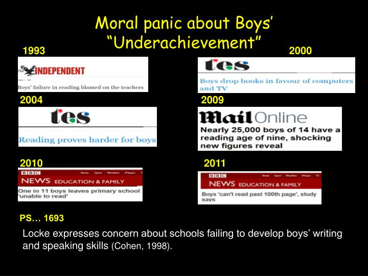 "Moral panic about Boys' ""Underachievement"""
