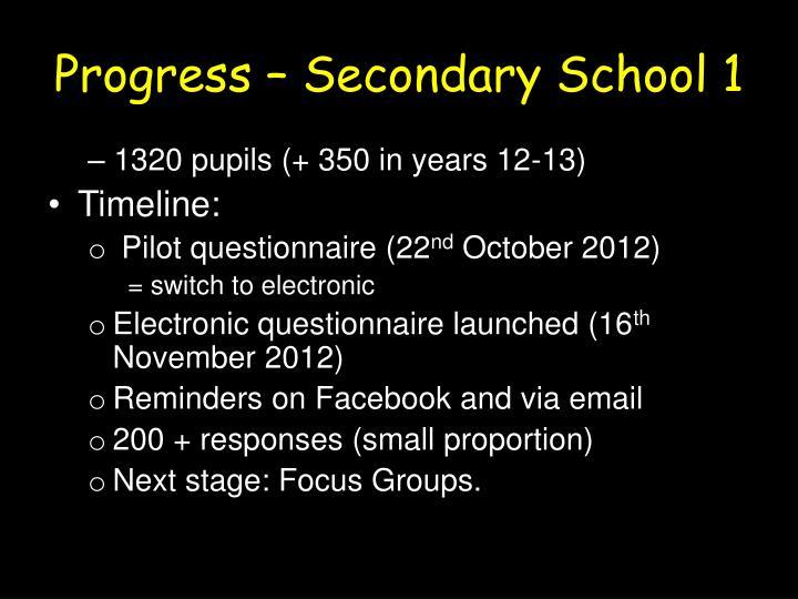Progress – Secondary School 1