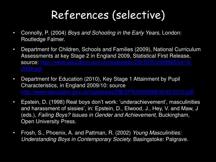References (selective)