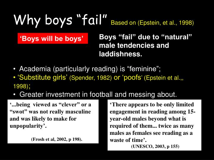 "Why boys ""fail"""