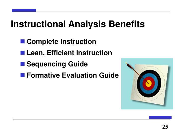 Instructional Analysis Benefits