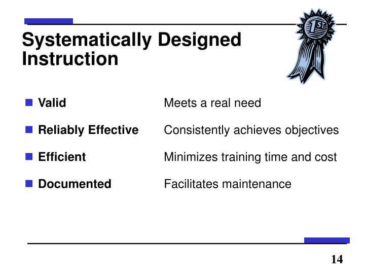 Systematically Designed Instruction