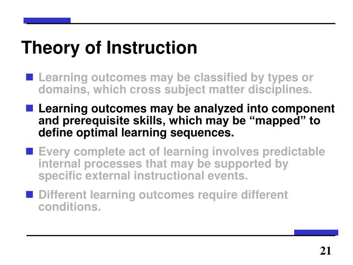 Theory of Instruction