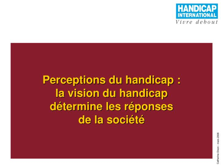 Perceptions du handicap :