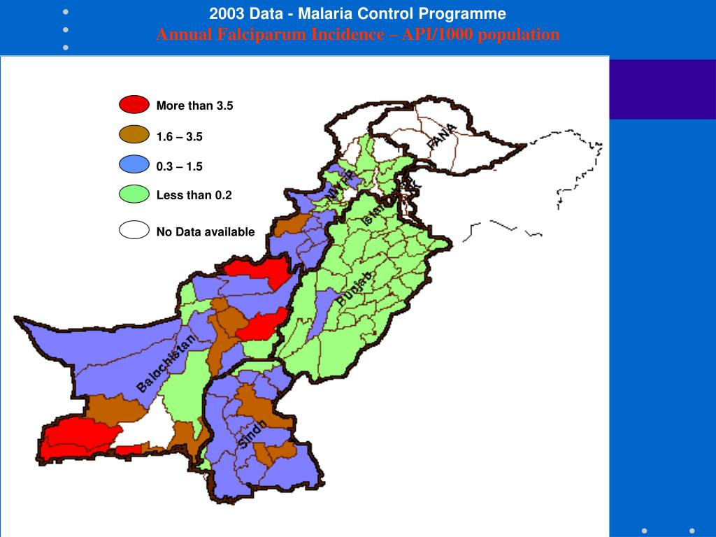 2003 Data - Malaria Control Programme