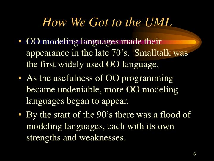 How We Got to the UML