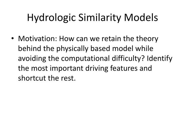 Hydrologic Similarity Models