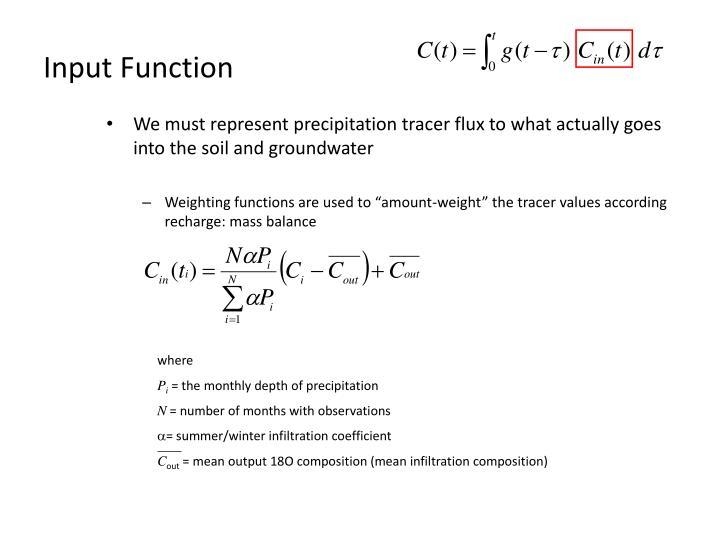 Input Function