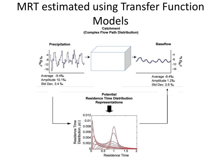 MRT estimated using Transfer Function Models