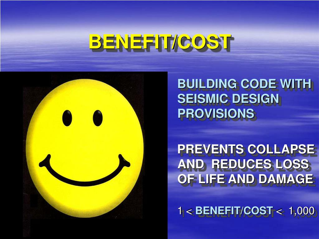 BENEFIT/COST