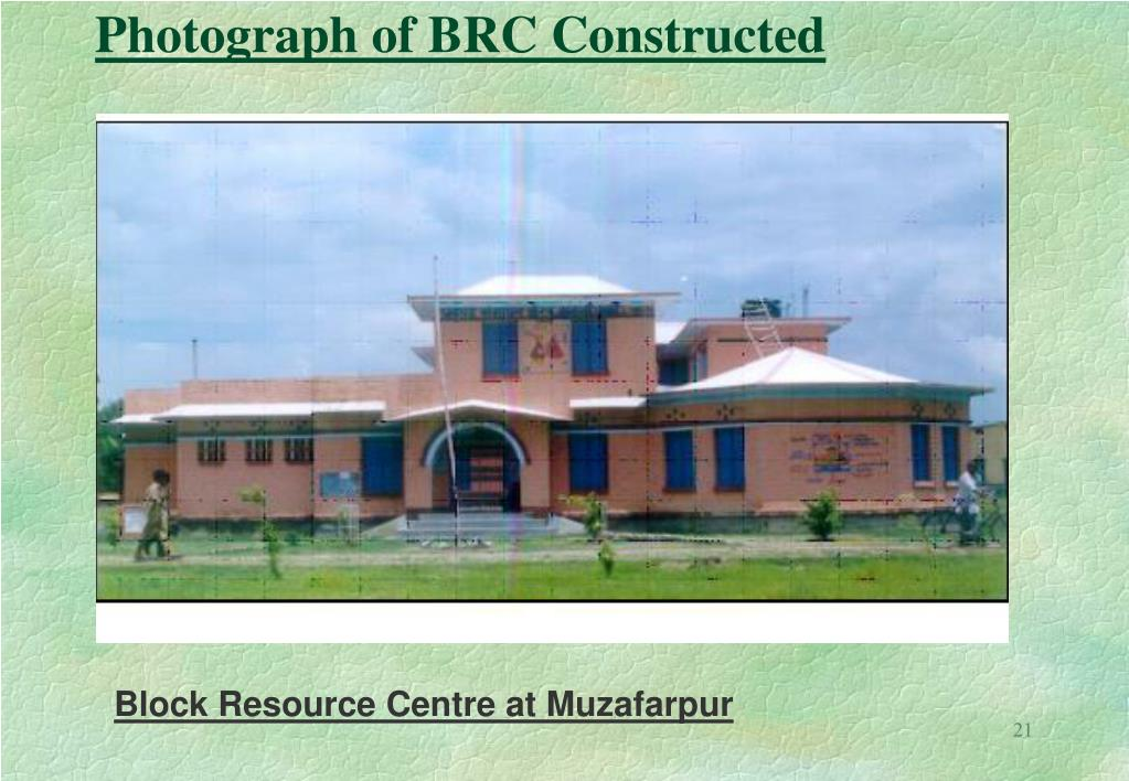Photograph of BRC Constructed