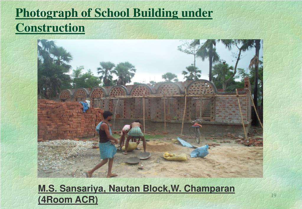 Photograph of School Building under Construction