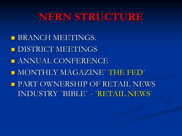 NFRN STRUCTURE