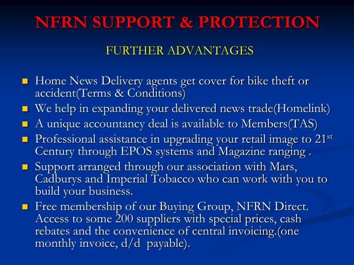 NFRN SUPPORT & PROTECTION