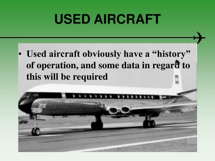 USED AIRCRAFT