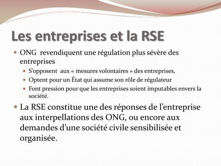 Les entreprises et la RSE