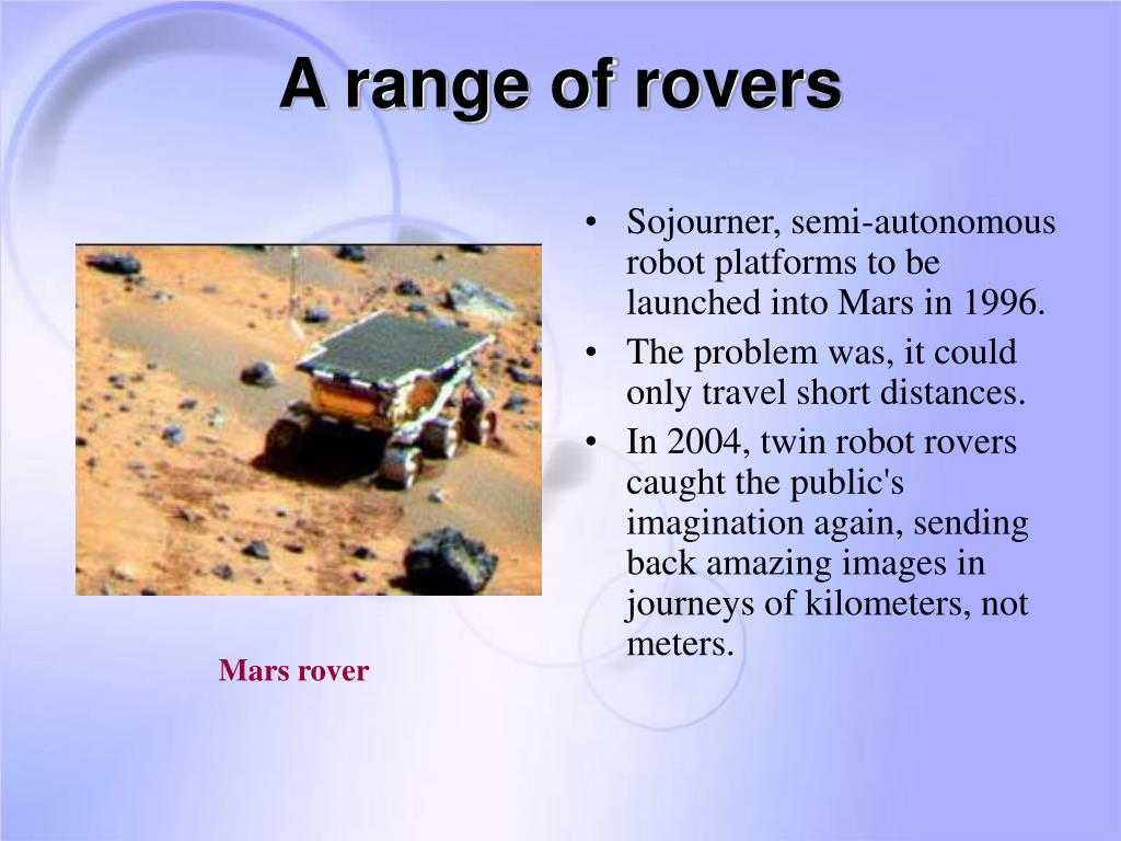 A range of rovers