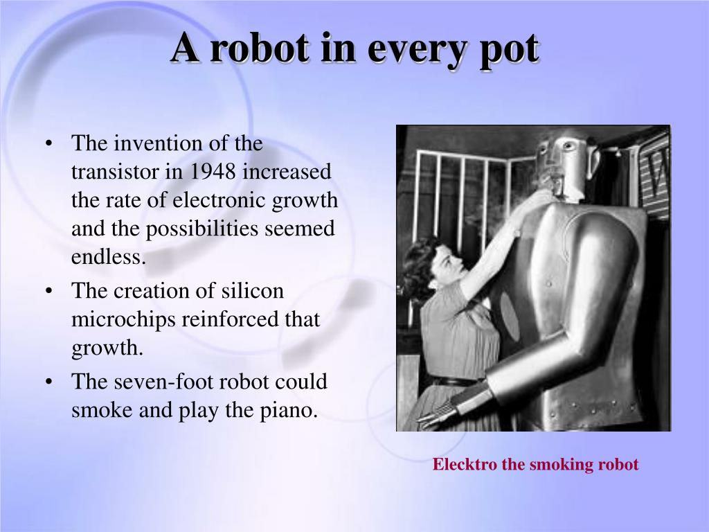 A robot in every pot