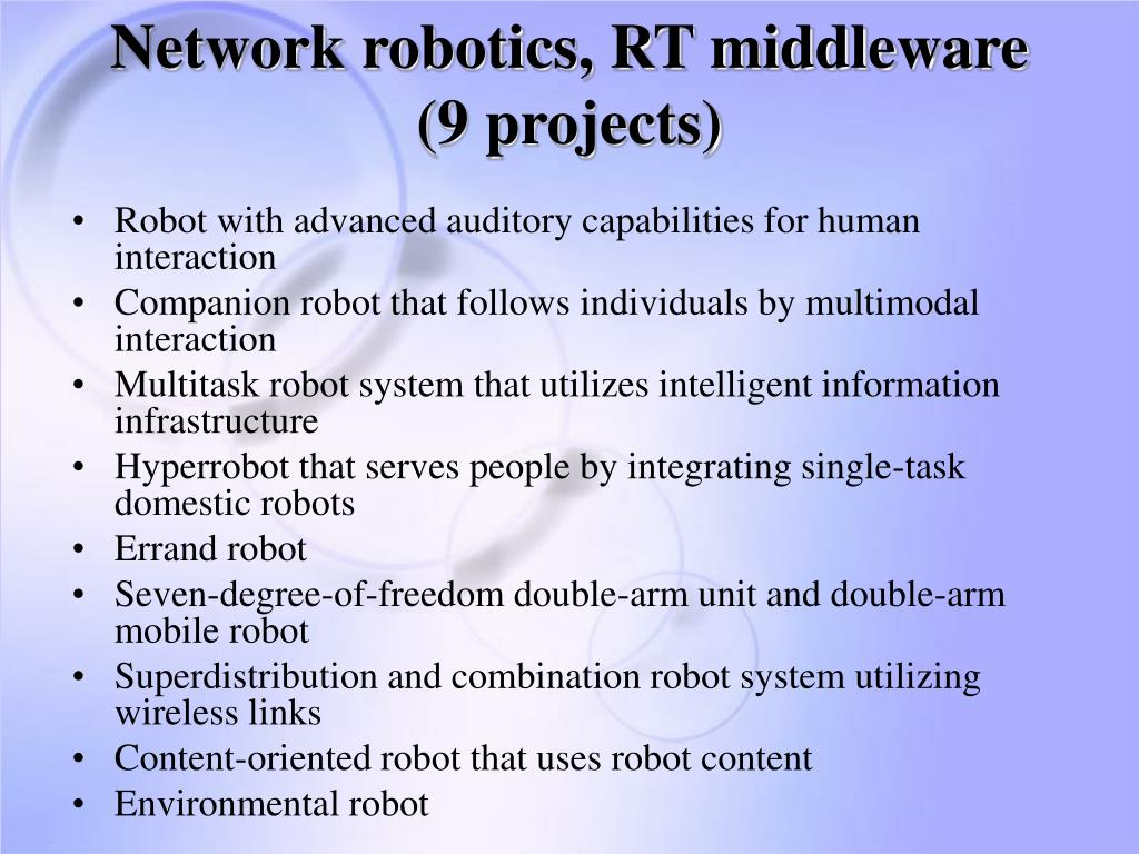 Network robotics, RT middleware