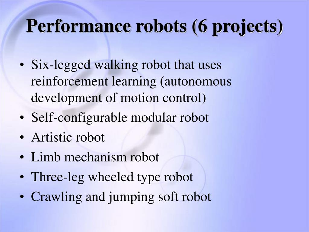 Performance robots (6 projects)