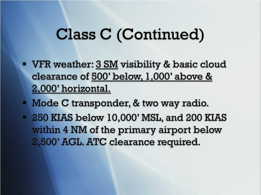 Class C (Continued)