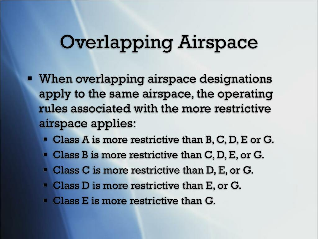 Overlapping Airspace