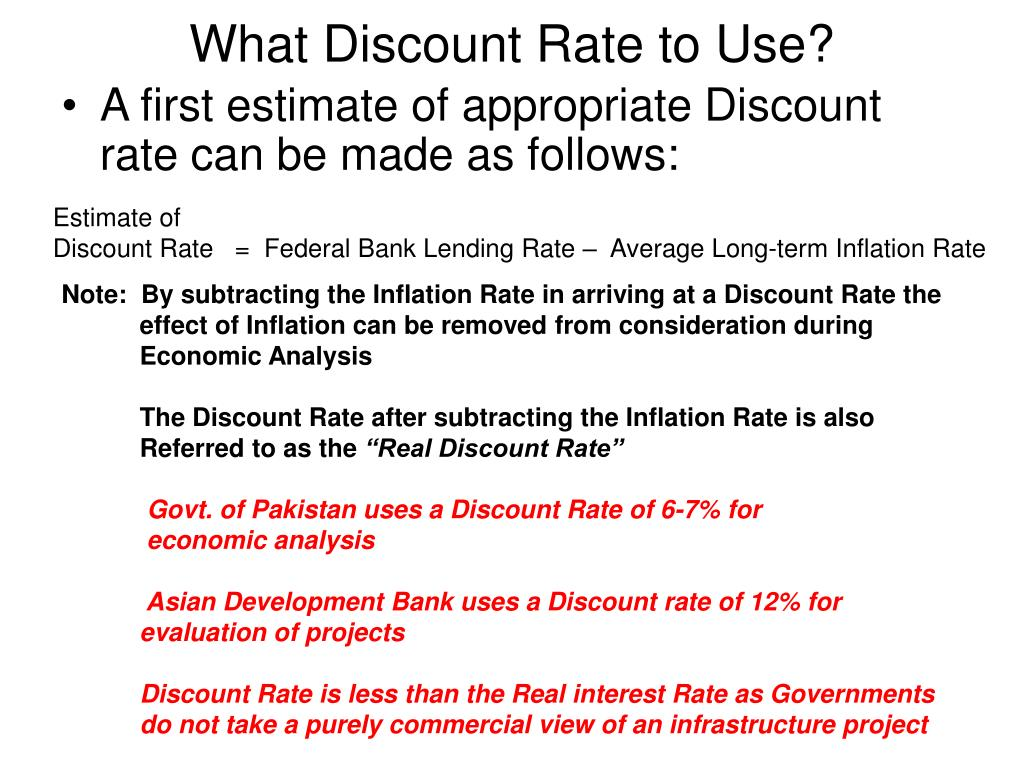 What Discount Rate to Use?