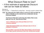 what discount rate to use
