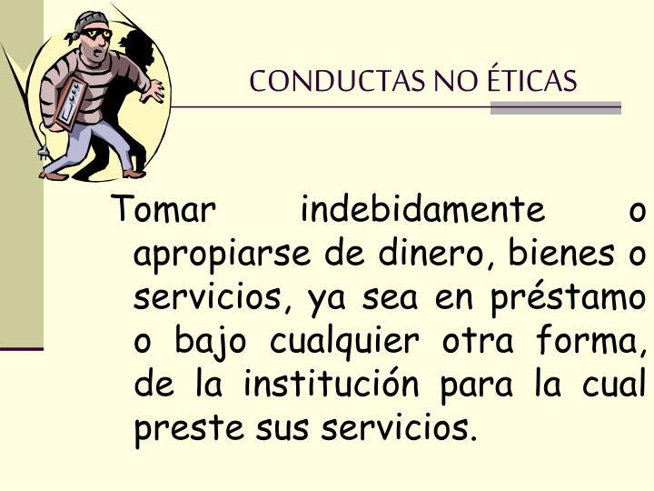 CONDUCTAS NO ÉTICAS