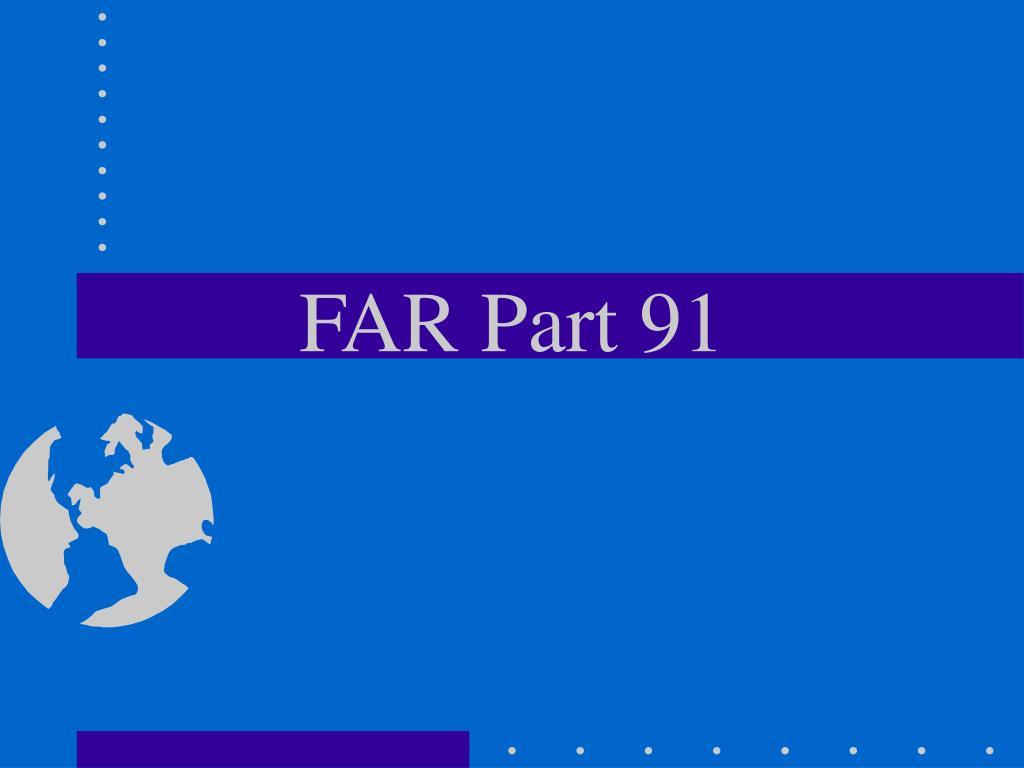 FAR Part 91