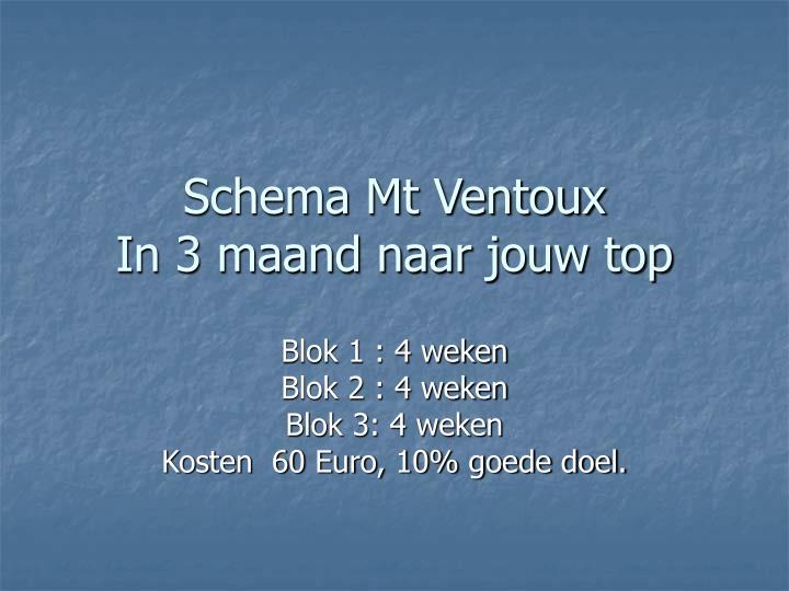Schema Mt Ventoux