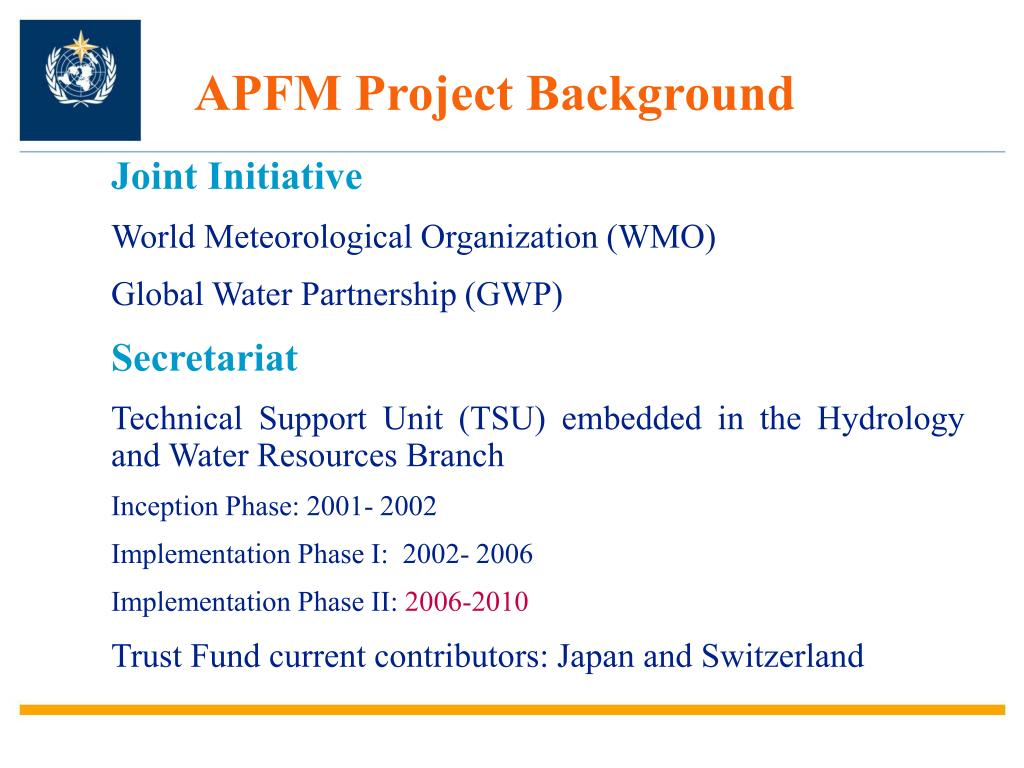 APFM Project Background