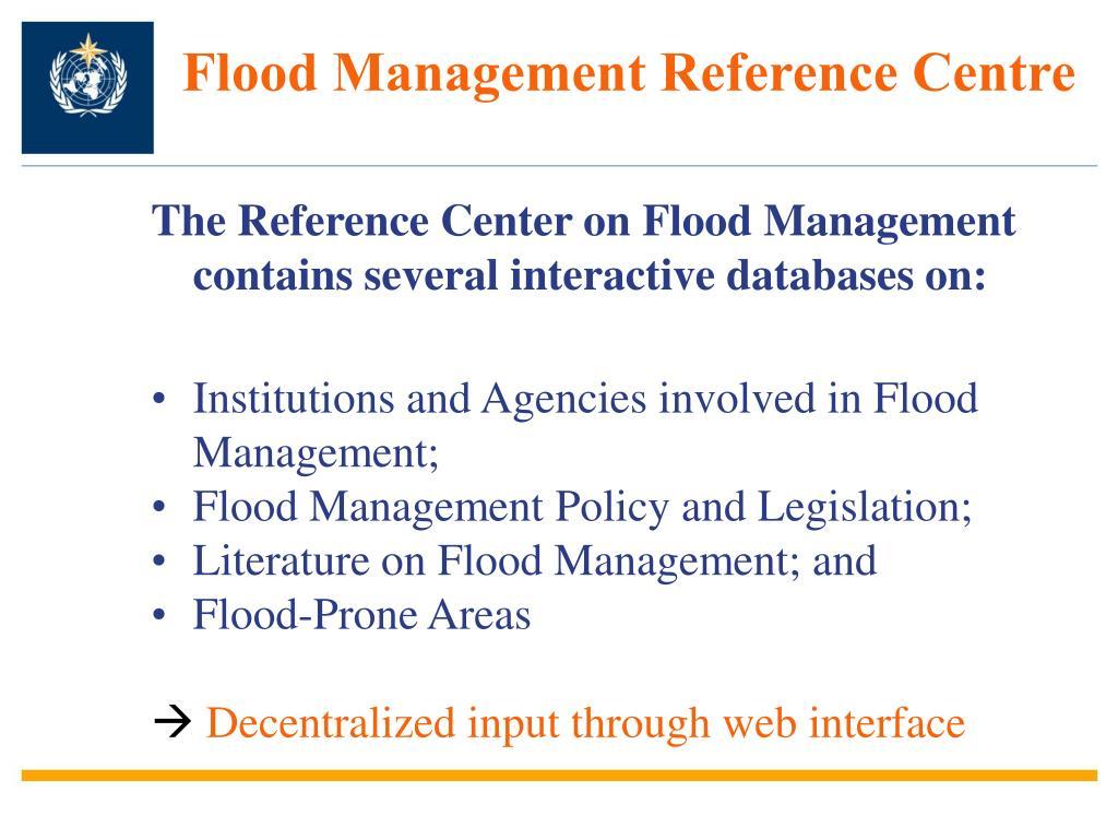 Flood Management Reference Centre