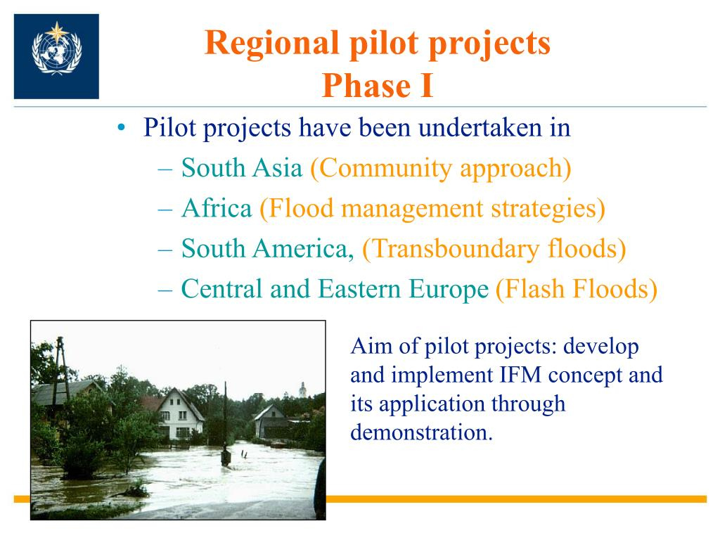 Regional pilot projects  Phase I