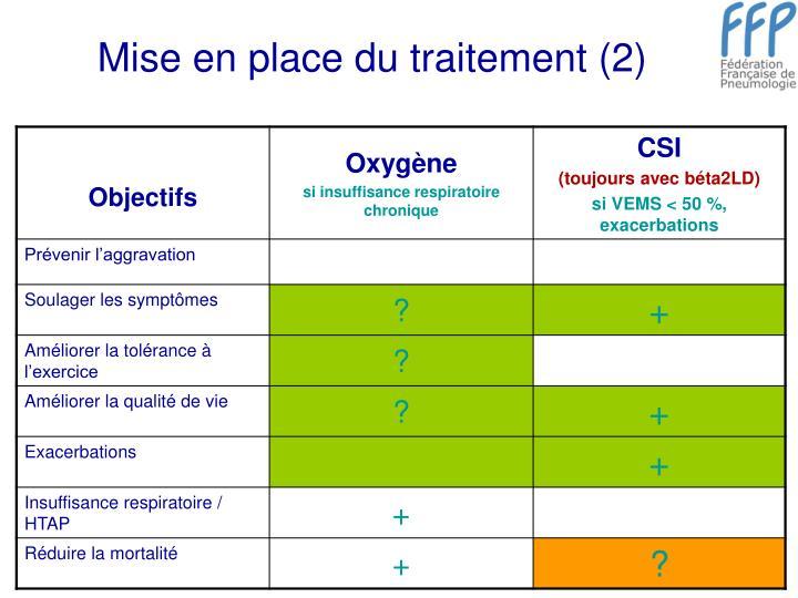 Mise en place du traitement (2)