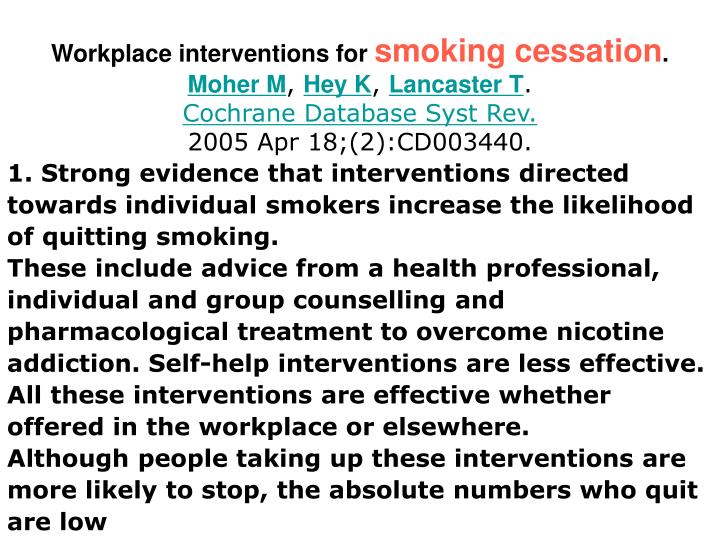 Workplace interventions for